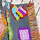 """Текстиль, ковры ручной работы. Коврик """"Бабушкины заплатки-4"""". Просто Счастье. Интернет-магазин Ярмарка Мастеров. Коврик вязаный"""