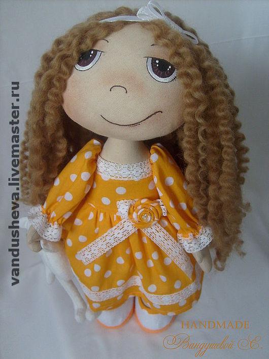 """Человечки ручной работы. Ярмарка Мастеров - ручная работа. Купить Текстильная кукла """"Девочка с мишкой"""". Handmade. Текстильная кукла"""