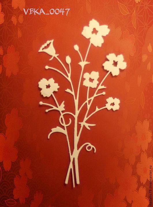 """Открытки и скрапбукинг ручной работы. Ярмарка Мастеров - ручная работа. Купить Вырубка """"Букет цветов"""". Handmade. Вырубка, вырубки"""