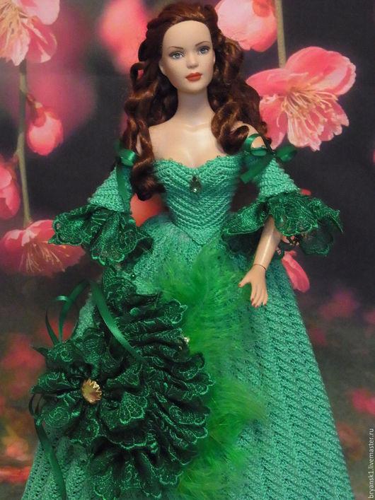Одежда для кукол ручной работы. Ярмарка Мастеров - ручная работа. Купить Английская леди. Handmade. Зеленый, одежда для кукол