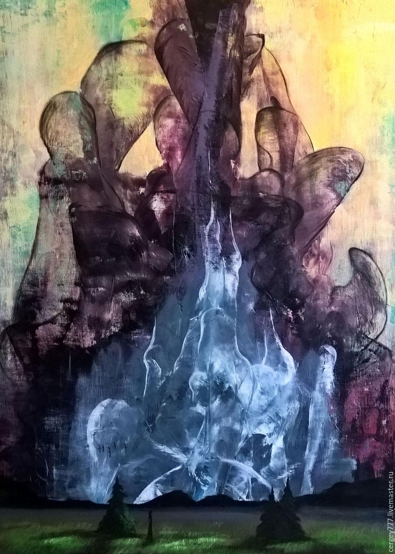 Янс Сергей картина `Мрачные тени` холст на подрамнике, масляные краски.