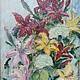 Картины цветов ручной работы. Ярмарка Мастеров - ручная работа. Купить Букет лилий. Handmade. Масло, лилии, цветы, масло