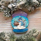 Пряники ручной работы. Ярмарка Мастеров - ручная работа Пряничный снежный шар. Handmade.
