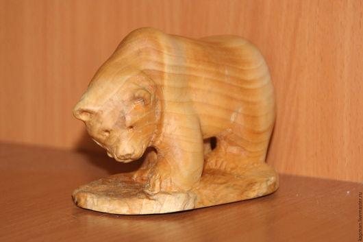 Статуэтки ручной работы. Ярмарка Мастеров - ручная работа. Купить Медведь. Handmade. Коричневый, стауэтка медведя