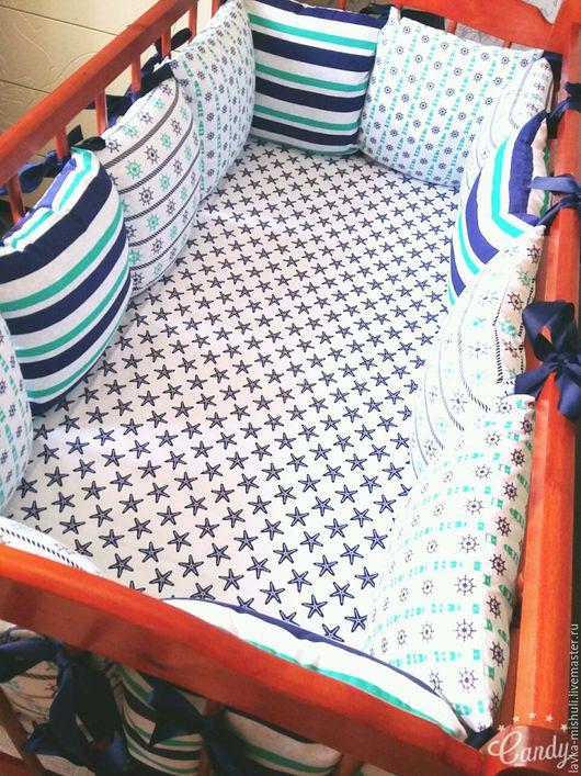 Детская ручной работы. Ярмарка Мастеров - ручная работа. Купить Бортики подушки. Handmade. Бортики в кроватку, детское постельное белье