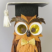 Подарки к праздникам ручной работы. Ярмарка Мастеров - ручная работа Декоративная сова с сюрпризом Профессор. Handmade.