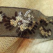 Сетка с вышивкой черная 11