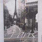 Канцелярские товары ручной работы. Ярмарка Мастеров - ручная работа обложка на паспорт Париж. Handmade.