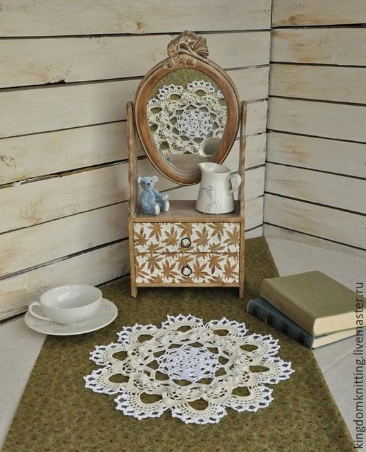 Салфетка из 100% мерсеризованного хлопка, ручная работа. Handmade. Салфетка из коллекции `Утренний чай на веранде...))`. Подарит вашему дому радость и уют!