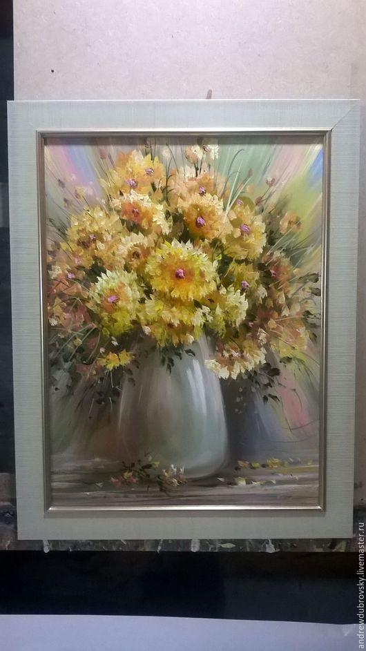 Картины цветов ручной работы. Ярмарка Мастеров - ручная работа. Купить цветы. Handmade. Желтый, картина, цветы