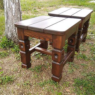 Мебель ручной работы. Ярмарка Мастеров - ручная работа Табуретка деревянная. Handmade.