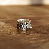 Украшения ручной работы. Ярмарка Мастеров - ручная работа Moon Drops кольцо #1 (аквамарин, пренит, серебро). Handmade.
