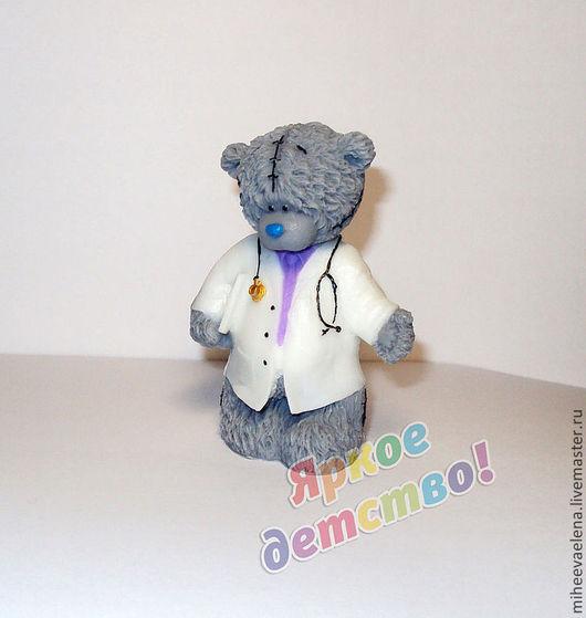 """Мыло ручной работы. Ярмарка Мастеров - ручная работа. Купить Мыло """"Мишка доктор"""". Handmade. Белый, подарок девушке"""