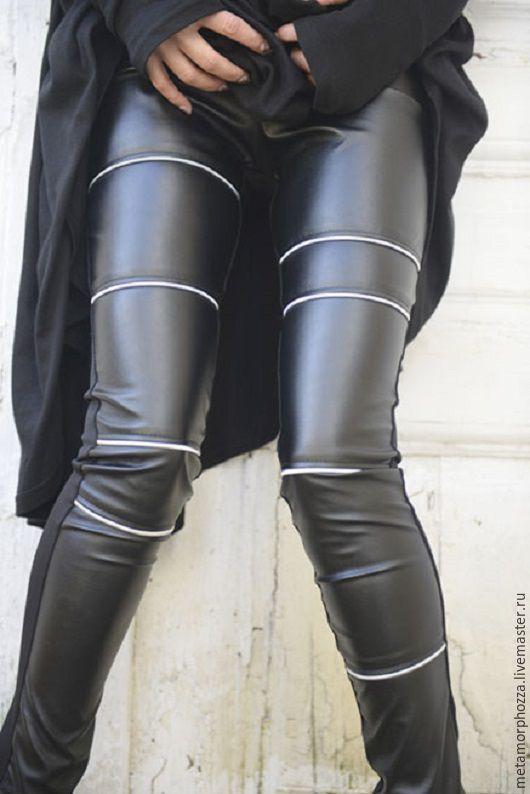 Брюки, шорты ручной работы. Ярмарка Мастеров - ручная работа. Купить ЛЕГГИНСЫ ЧЕРНЫЕ КОЖАНЫЕ Black leather leggings. Handmade.