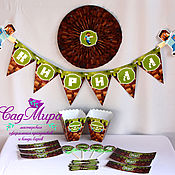 Подарки к праздникам ручной работы. Ярмарка Мастеров - ручная работа Набор для оформления дня рождения в стиле Майнкрафт.. Handmade.
