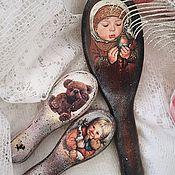 Работы для детей, handmade. Livemaster - original item Mi-mi-bear (mini combs children). Handmade.