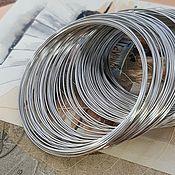 Материалы для творчества handmade. Livemaster - original item 10 turns Wire with memory for bracelet 5,5 cm platinum (139-C). Handmade.