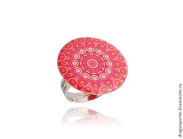 Кольца ручной работы. Ярмарка Мастеров - ручная работа. Купить Алое кольцо этно стиль для нее 'Африканские сказки'. Handmade.