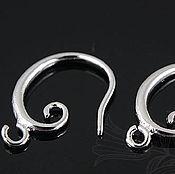 Материалы для творчества handmade. Livemaster - original item Earrings hooks art. 3-32, rhodium plated. Handmade.