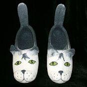 """Обувь ручной работы. Ярмарка Мастеров - ручная работа Тапочки """"Котэ"""". Handmade."""