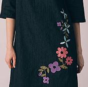 """Одежда ручной работы. Ярмарка Мастеров - ручная работа платье """"С цветочной вышивкой"""". Handmade."""