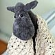 """Куклы и игрушки ручной работы. Ярмарка Мастеров - ручная работа. Купить авторская игрушка """"Овца"""". Handmade. Серый, шерстяные нитки"""