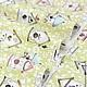 Шитье ручной работы. Ярмарка Мастеров - ручная работа. Купить Ткань хлопок Домики для птиц. Handmade. Ткань для творчества