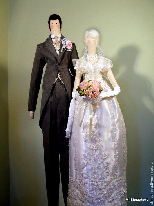 Куклы Тильды ручной работы. Ярмарка Мастеров - ручная работа. Купить Жених и невеста. Handmade. Жених и невеста, ткань для кукол