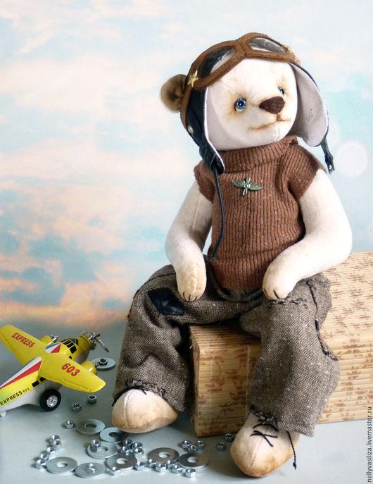 Мишки Тедди ручной работы. Ярмарка Мастеров - ручная работа. Купить С мечтой о небе. Handmade. Бежевый, мишка-тедди