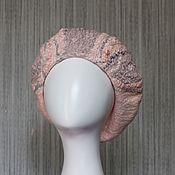 Аксессуары handmade. Livemaster - original item Takes felted wool winter Pink pearl. Handmade.