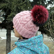 """Шапки ручной работы. Ярмарка Мастеров - ручная работа Шапка вязаная """"Розовый снег"""" розовая. Handmade."""