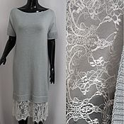 Одежда handmade. Livemaster - original item Dress of Merino with lace. Handmade.