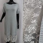 Одежда ручной работы. Ярмарка Мастеров - ручная работа Платье из мериноса с кружевом. Handmade.