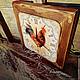 """Часы для дома ручной работы. Заказать Часы настенные """"Прованский петух"""". Алиса. Авторский декупаж.. Ярмарка Мастеров. Часы интерьерные"""