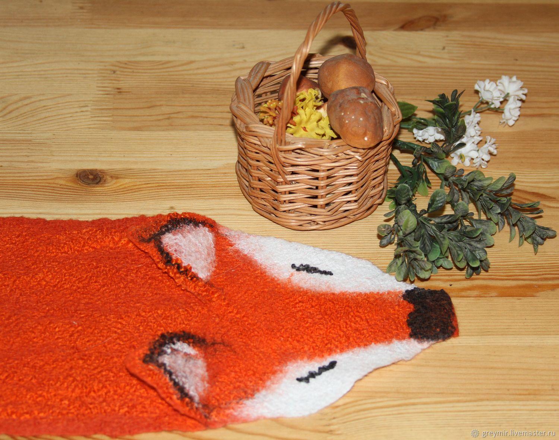 Hats and scarves handmade. To buy the scarf-the felted collar Alice Fox . Scarf orange. Orange scarf. Online shop Fair Masters. Gramer. Volkova Tatyana. www.malamut37.ru