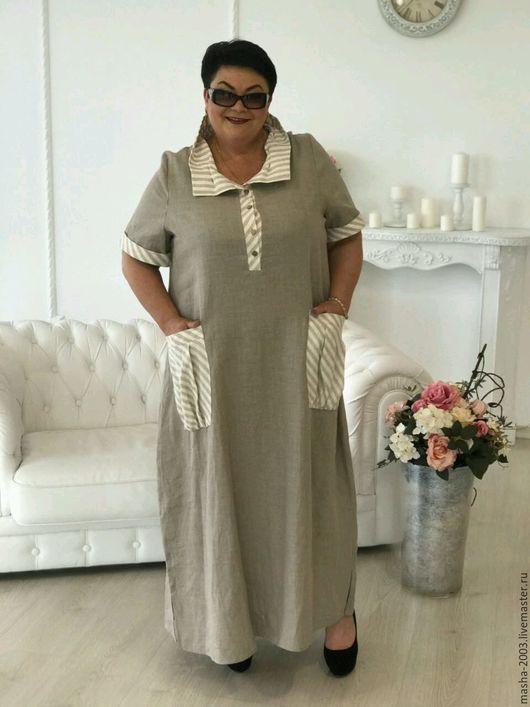 Платья ручной работы. Ярмарка Мастеров - ручная работа. Купить Платье льняное. Handmade. Платье, платье летнее