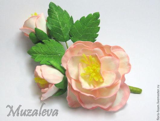 """Броши ручной работы. Ярмарка Мастеров - ручная работа. Купить Брошь-цветок """"Ветка Розы"""". Handmade. Разноцветный"""