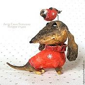Куклы и игрушки ручной работы. Ярмарка Мастеров - ручная работа такс и воробей. Handmade.