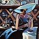 Люди, ручной работы. Ярмарка Мастеров - ручная работа. Купить Кокетка - Картина маслом ручной работы на холсте. Handmade.