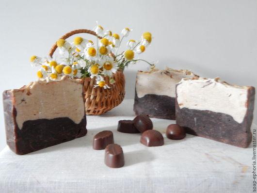 Мыло ручной работы. Ярмарка Мастеров - ручная работа. Купить Шоколадное мыло с нуля. Handmade. Коричневый, мыло, мыло с нуля