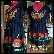 Одежда handmade. Livemaster - original item Womens embroidered tunic ZhT5-001. Handmade.