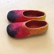 Обувь ручной работы. Ярмарка Мастеров - ручная работа Тапочки валянные цветные. Handmade.