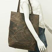 Сумки и аксессуары handmade. Livemaster - original item shopper: Bag-package: Genuine brown leather.. Handmade.
