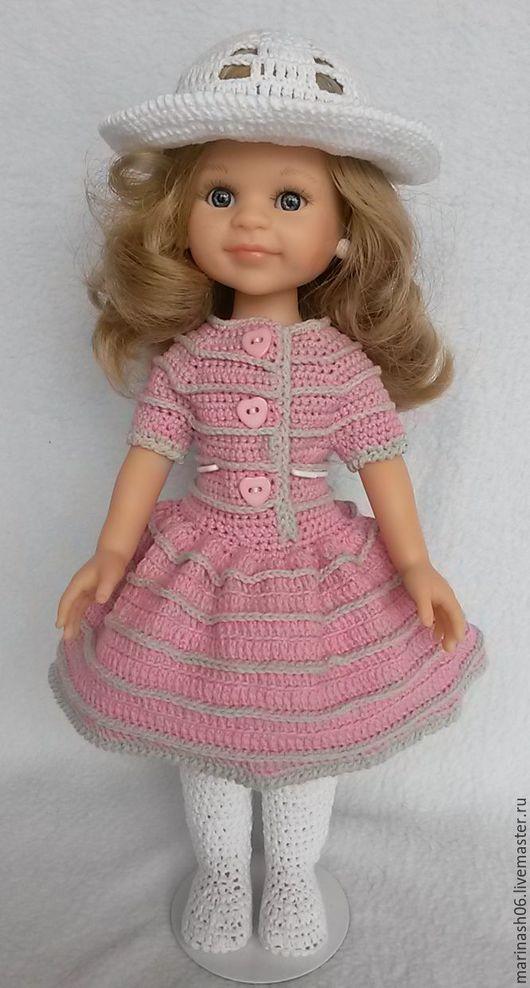 """Одежда для кукол ручной работы. Ярмарка Мастеров - ручная работа. Купить Комплект """"Розовый с серым"""" 1.  (Для куклы Paola Reina). Handmade."""