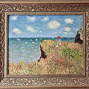 Картины и панно handmade. Livemaster - original item Paintings:oil Painting. Walking on rocks. Handmade.