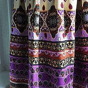 Одежда ручной работы. Ярмарка Мастеров - ручная работа Юбка в пол на подкладке с орнаментом. Handmade.