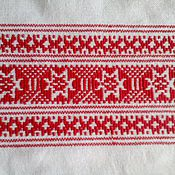 Русский стиль handmade. Livemaster - original item Towel embroidered with a pattern of Russian villages Tchaikovsky land. Handmade.