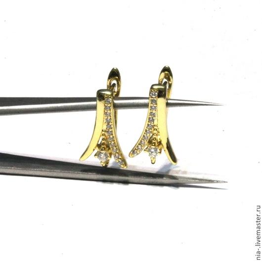 Для украшений ручной работы. Ярмарка Мастеров - ручная работа. Купить Швензы позолоченные со стразами английский замок 35. Handmade.