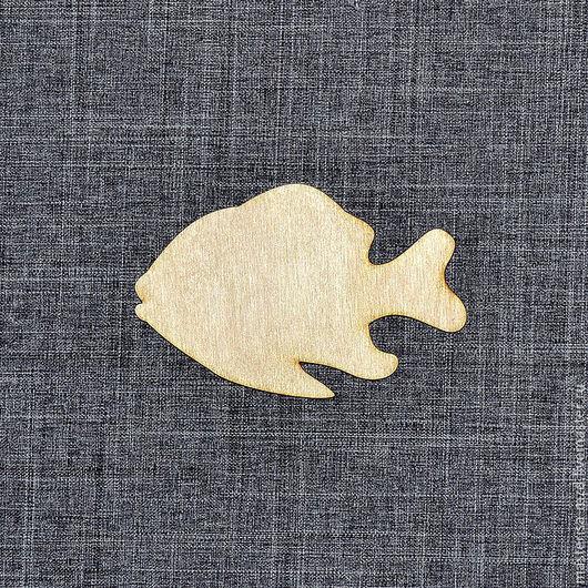 """М-004. Магнит заготовка """"Рыбка"""". Поставляется в комплекте с неодимовым магнитом."""