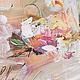 Картина маслом  `Розы в нежной гамме` 40/60 см фрагмент